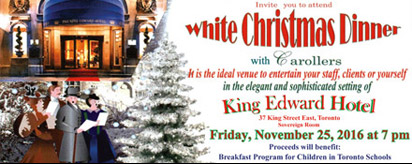 More about: White Christmas Dinner 2016