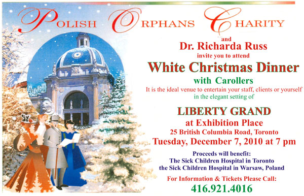 White Christmas Dinner Invitation 2010