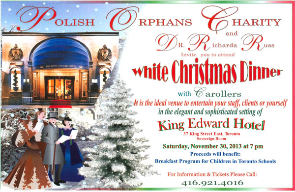 White Christmas Dinner Invitation 2013