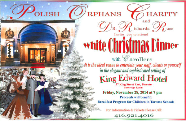 White Christmas Dinner Invitation 2014